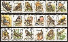 gestempelde typografische voorafgestempelde postzegels (vogels)