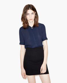 Two colour shirt dress - Dresses - The Kooples