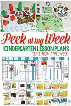Apple Centers and stations for Kindergarten. Fun apple themed activities for…