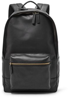 2ecbaa73c89 Fossil Estate Casual Leather Backpack Leather Backpack For Men