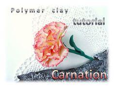 Carnation. Polymer clay tutorial