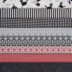 American Quilter's Society - Black Tie Boogie Fat Quarter Collection - Fabric