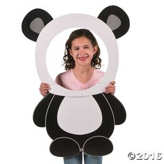 Create a fun photo op at your panda party bash with this Panda Party Photo Prop. A fun addition to your birthday party supplies, create a photo booth to ...