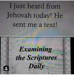 I'm listening Jehovah