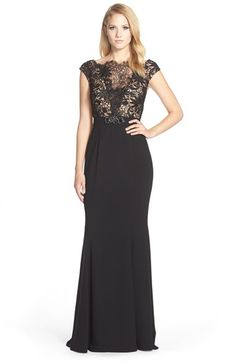 Terani Couture Lace Bodice Gown available at #Nordstrom