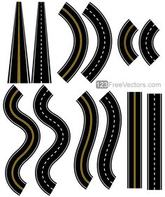 Roads Vector Pack for those Outdoor travels