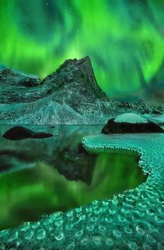 Beautiful Examples Of Night Scenes With Aurora In The Sky