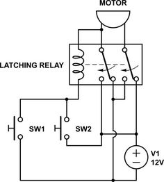 How to wire an extra relay contact to create a latching relay memory function.How to Wire This Latching Relay . All Grain Brewing, Motor Speed, Diy Electronics, Arduino, Diagram, Technology, Dan, Digital, Electronic Circuit