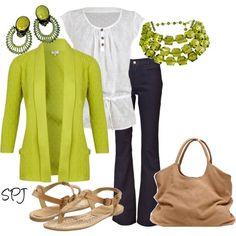 chartreuse fashion   Found on polyvore.com