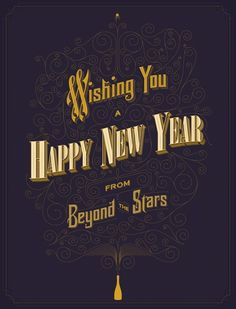Designed by Anton Burmistrov, Wishing You a Happy New Year from Beyond the Stars – Seasonal greeting for Sputnik (Guest Pinner: creativity studio™) Typography Served, Typography Poster Design, Creative Typography, Typography Letters, Typography Logo, Lettering Design, Hand Lettering, Creative Fonts, Logos