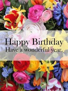 Send Free Vivid Flow Send Free Vivid Flower Happy Birthday Card to Loved Ones on Birthday & Greeting Cards by Davia. It's free and you also can use your own customized birthday calendar and birthday reminders. Happy Birthday Flowers Wishes, Happy Birthday Greetings Friends, Birthday Wishes And Images, Birthday Wishes Messages, Birthday Blessings, Happy Birthday Pictures, Birthday Greeting Cards, Birthday Thank You Quotes, Card Birthday