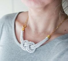nautical knot necklace by lynette