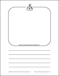 Learn About Native Americans of North America with Free Printables: Native American Draw and Write
