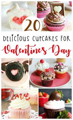 A collection of the most gorgeous Valentine's Day Cupcakes from top food bloggers that taste as amazing as they look! Perfect for a romantic date or kids party!