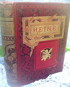 Antique poetry book German poet Heinrich by LittleBeachDesigns