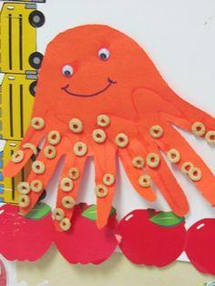 Preschool Finding Nemo Craft: O is for Octopus in preschool