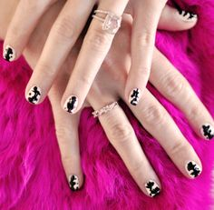 Rorschach inkblot nails manicure-black and white nails by ...love Maegan, via Flickr