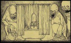 Post-It Note drawings by John Kenn