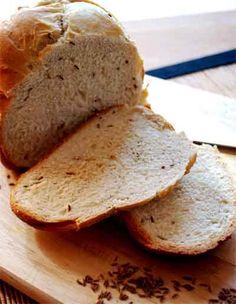 Pan alemán con semillas de alcaravea. Mis recetas con panificadora