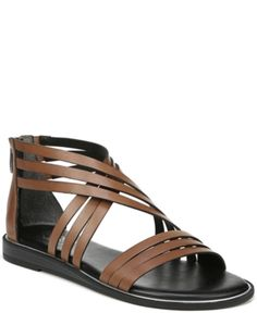 6e8048f6fad Franco Sarto Gaetana Flat Sandals - Brown 7.5M Flat Sandals