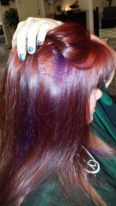 Red Ombre with purple streaks