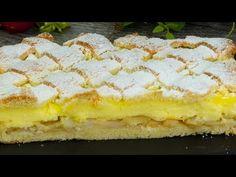 O bunătate cum rar întâlnești - prăjitură cu măr și budincă de vanilie! - YouTube Pudding Vanille, Dessert Drinks, Dessert Recipes, No Cook Desserts, Apple Recipes, Other Recipes, Cheesecake, Deserts, Food And Drink