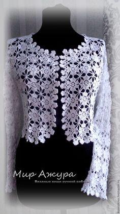 Captivating Crochet a Bodycon Dress Top Ideas. Dazzling Crochet a Bodycon Dress Top Ideas. Diy Crochet Sweater, Débardeurs Au Crochet, Crochet Bolero Pattern, Gilet Crochet, Crochet Motifs, Crochet Cardigan, Irish Crochet, Hand Crochet, Crochet Clothes