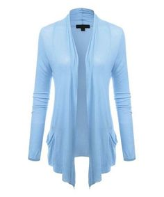 Another great find on #zulily! Sky Blue Open Cardigan #zulilyfinds