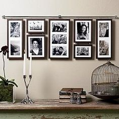 Pictures Hanging From Curtain Rod Website Has This And Square Option Wedding Picture Walls