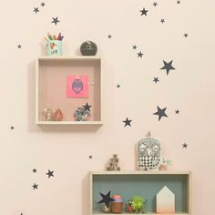 Mini Stars Wallsticker, have this!! more on ceiling