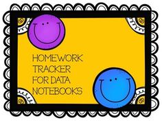 ** UPDATED FOR 2017-2018 ** This is a great addition to your data notebooks and a great way to hold your students accountable for their homework completion. Students simply color in the day smiley face each day they return 100% of their homework. After