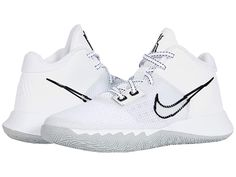 White Nike Basketball Shoes, Best Volleyball Shoes, Basketball Sneakers, Youth Basketball Shoes, Kyrie Irving Shoes, Kicks Shoes, Hype Shoes, Nike Kids, Girls Sneakers