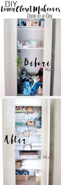 DIY Linen Closet Mak