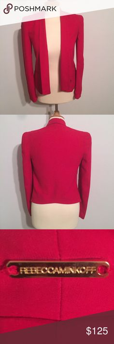 ❤️ Rebecca Minkoff ❤️ Silk Becky Jacket✨celeb fave Amazing Rebecca Minkoff Jacket! This is 100% silk. Celebrity favorite! Dress up or down! Only worn a couple times, EUC! You will love this jacket❤️❤️❤️ Rebecca Minkoff Jackets & Coats Blazers