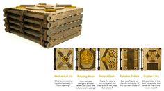 Livro puzzle de madeira