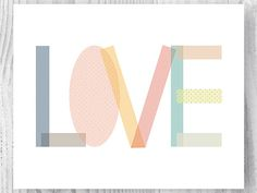 home decor, wall, print, love