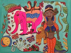 Pink Elephant, 70x90 cm, acrylic on canvas, March 2015