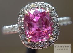Check out this hot pink sapphire and diamond ring!                                                                                                                                                      More