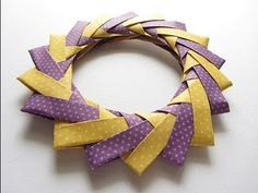 Origami Modular Braided Wreath Folding Instructions