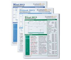 Some great, printable, guide sheets for popular programs like Word, Excel, etc.
