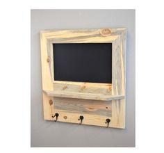 Entryway Chalkboard Organizer Chalkboard Shelf by MintageDesigns