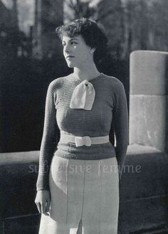 1930s raglan styled jumper with neck tie and by SubversiveFemme, $2.00