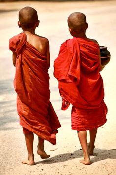 Novice Monks in Burma