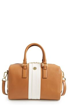 Tory Burch 'Robinson - Middy' Stripe Satchel available at #Nordstrom