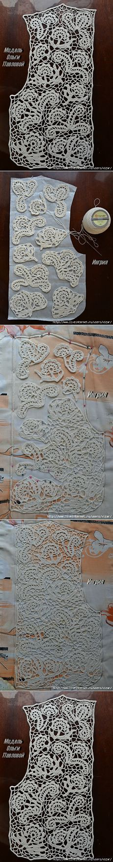 Croche Madona-mía puntos y graficos: Iris Crochet-Crochet irlandés Gráficos -B- Irish Crochet Patterns, Crochet Motifs, Freeform Crochet, Crochet Art, Lace Patterns, Filet Crochet, Crochet Designs, Crochet Crafts, Crochet Flowers