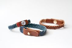 diy gift idea series: braided leather bracelets | Serious Craft (by hyperart)