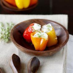 Easy & Elegant Appetizer: Chevre Stuffed Sweet Peppers
