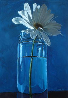 artist Carol Marine.  love the light hitting the back of the white flower