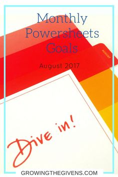 My guide to setting monthly goals using Lara Casey's Powersheets.  #Powersheets #LaraCasey #CultivateWhatMatters