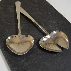 heart shaped salad servers